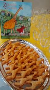 giraffe biscuits at the launch of ZERAFFA GIRAFFA at The Illustration Cupboard