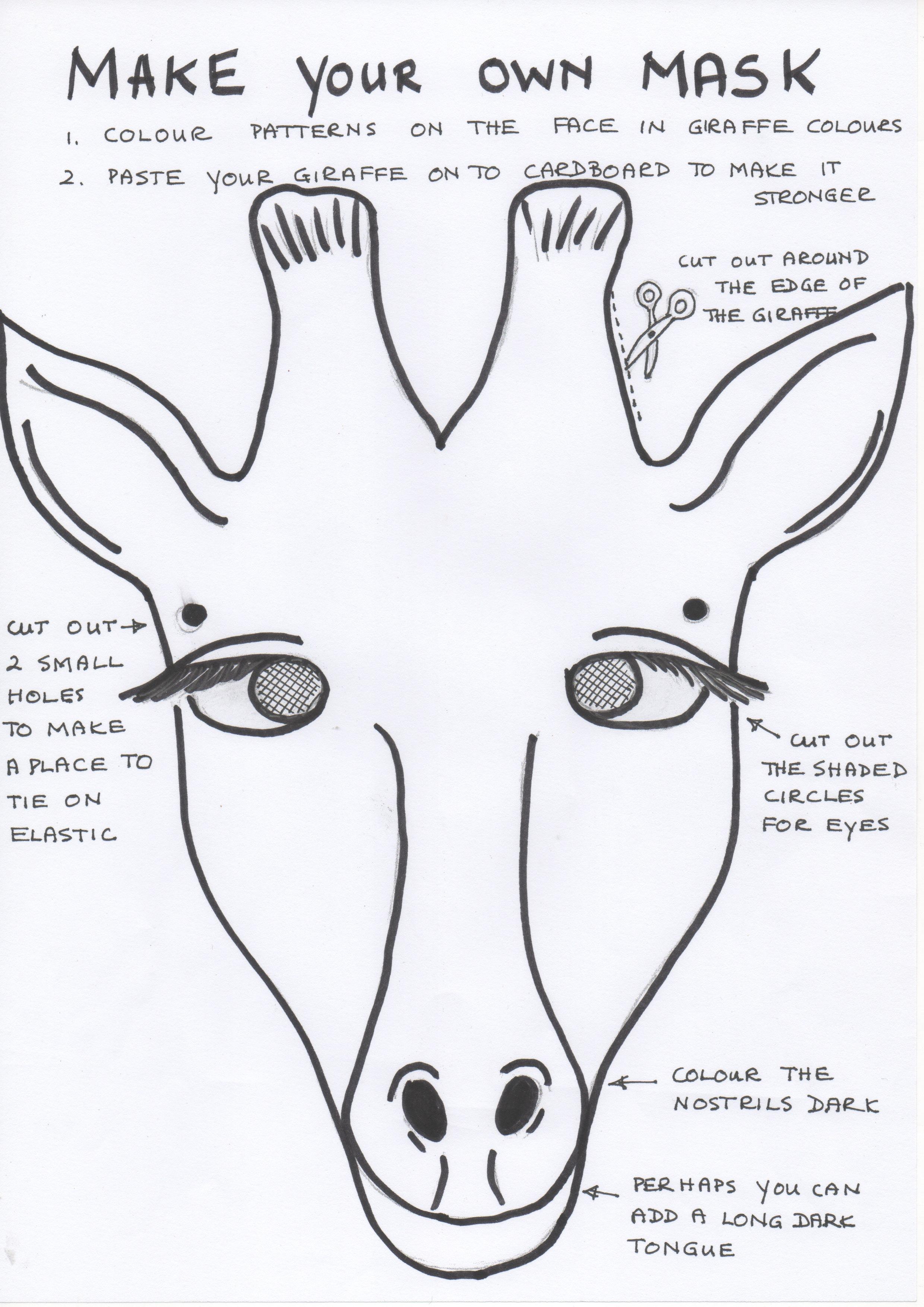 african animal masks giraffe